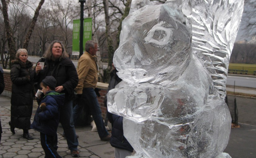 Ice sculpture central park