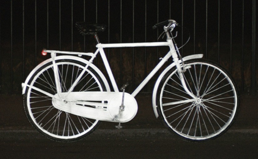 Bike with Reflective Spray LifePaint