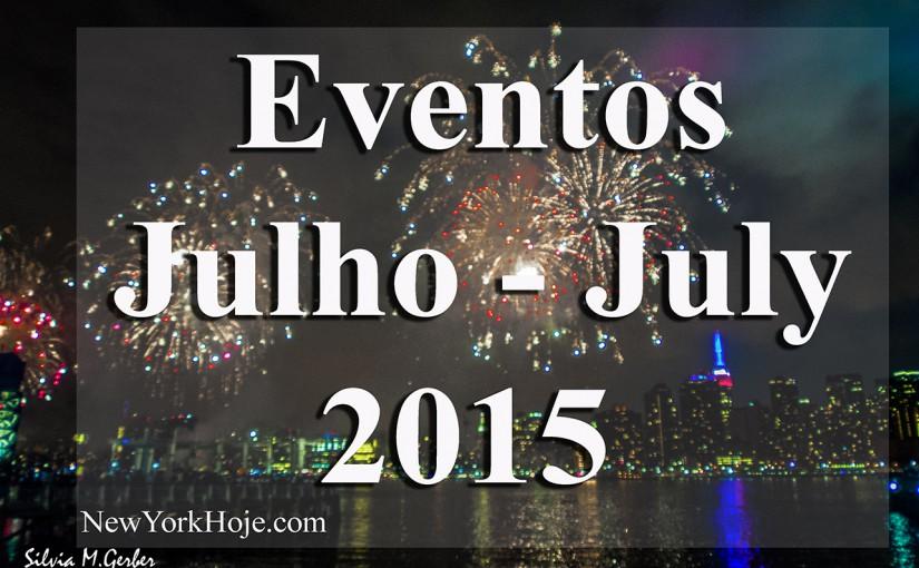 List  of  de Events  Nova York – Julho 2015   Lista de Eventos