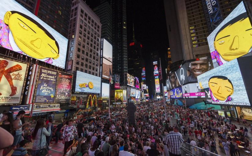 "Os ""Gemeos"" Tomam Conta do Times Square! –  Brazilian Artist, Os Gemeos ( The Twins), Took Over Times Square"