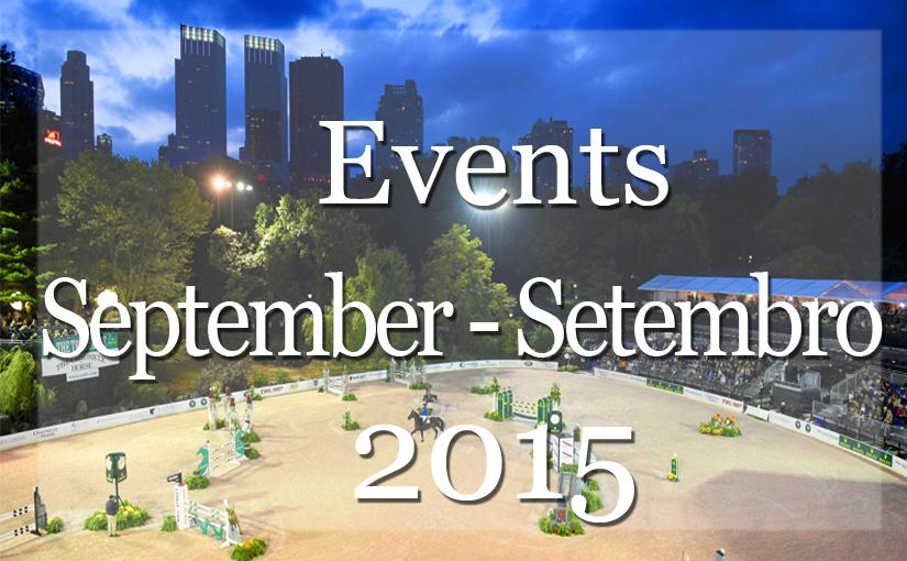 List of Events New  York  September 2015   Lista de Eventos Mensal