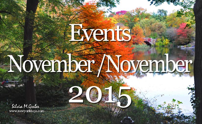 List of Events New York November 2015 – Lista Mensal de Eventos em NYC